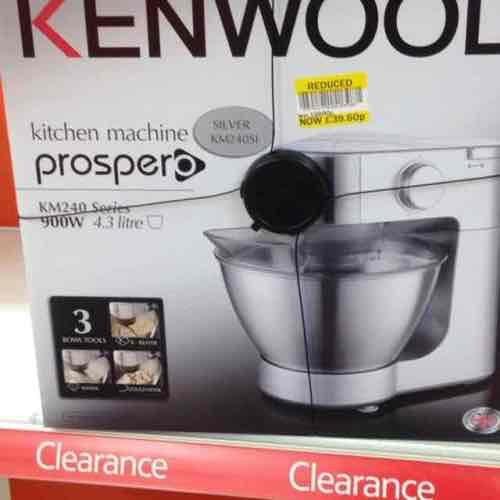 kenwood prospero km240 mixer - £39.60 instore @ TESCO Milton Keynes