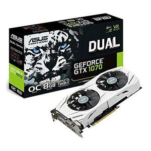 Asus NVIDIA GeForce GTX 1070 8GB DUAL OC White - £299.79 @ Amazon.fr inc 2 Free game codes!