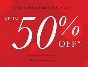 Massive Sale @ Goldsmiths.co.uk 50% off!