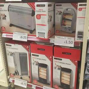 Heaters from £1.50 at wilko instore