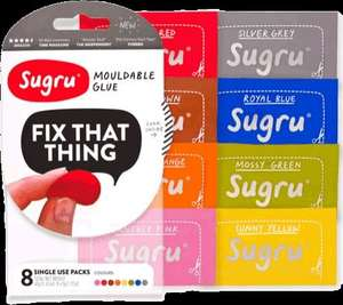 Amazon Sugru Mouldable Glue £4.99 for 8 black - Amazon add on item