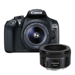Canon EOS 1300D Digital SLR + EF-S 18-55mm f/3.5-5.6 DC III Lens + EF 50mm f/1.8 STM Lens £329 @ Jessops