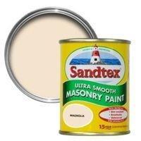 SANDTEX MAGNOLIA CREAM MATT MASONRY PAINT 150ML TESTER POT £2.00 @ B&Q