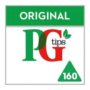 Pg Tips 160S Pyramid Teabags 464G - was £4.69 now £2.34 at Tesco