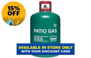 Calor Patio Gas 13KG Refill  £24.47  or £29.47 (if need card) Go Out Outdoos