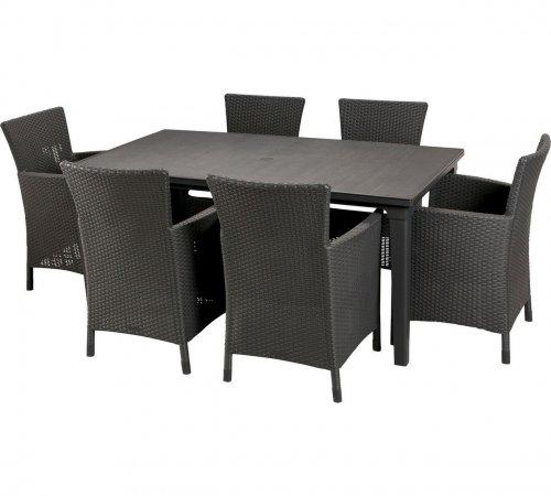 Keter Iowa Rattan style 6 seater garden furniture dining set in graphite was £579.99 now £276.94 delivered @ Argos