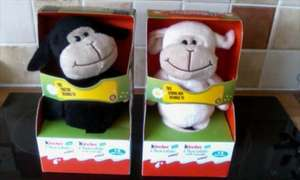 kinder black/white soft cute sheep with mini chocs now half price £2.50 in co-op