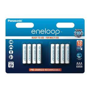 Panasonic Eneloop (retain 70% charge for 5 years) AAA HR03 Rechargeable NiMH Batteries 8 Pack £11.69 delivered 7DayShop