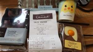 Hotel chocolat Reading Central Easter reductions 97p EGG ON TOAST
