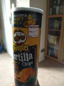 Pringles Tortilla Chips reduced to 50p Instore @ Wilko