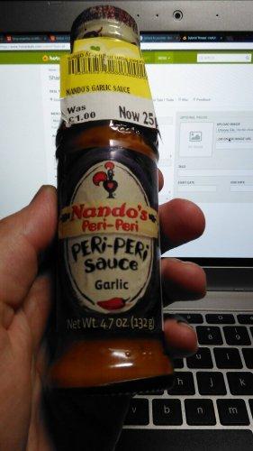NANDOS PERI PERI SAUCE 25p!!! - GARLIC - Morrisons instore