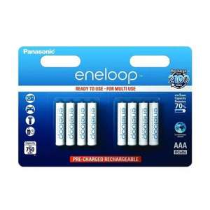 Panasonic Eneloop AAA 750mAh Rechargeable Battery Pack of 8 £10.75 @ Battery Force
