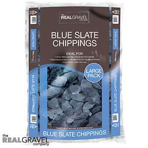 Real Gravel Company: Blue Slate Chippings 20kg £5.99 > £2.75 home bargins