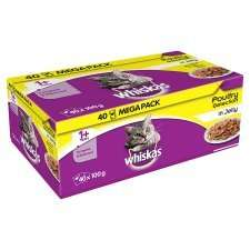 Whiskas cat food 40 pouches @ £7.99 each or 3 for £20 @ Farmfoods