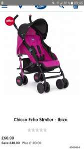 Chicco echo stroller - ibiza save £40 - £60 at Boots - other model's available in description
