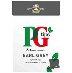 PG TIPS EARL GREY 80 TEA BAGS 25p @ poundstretcher