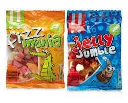 Fizz Mania/Jelly Jumble 230g bags for 49p at Aldi down from 79p