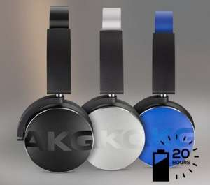 AKG Y50BT Bluetooth Wireless Headphones (Black/Silver/Blue) £89.57 delivered @ Amazon Italy.