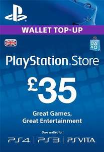 £35 PSN Wallet for £30.31 @ Press Start