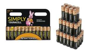 12, 24, 36 or 60 Duracell Simply AA/AAA Batteries from £4.98 @ Groupon