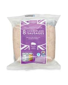 Ashfield Farm Irish and Cumberland Sausages (8 = 454g) (Red Tractor approved) ONLY 85p @ Aldi