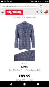 Cavani 3 piece Suit ONLY £89.99 USUALLY £200 at TK MAXX