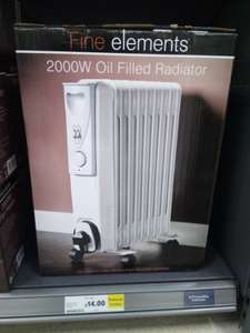 2000W Oil Filled Radiator - £14 instore @ Tesco
