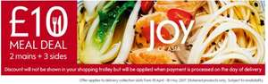 JOY OF ASIA - £10 Meal Deal 2 mains + 3 sides from 19th April - 16th May @ Waitrose
