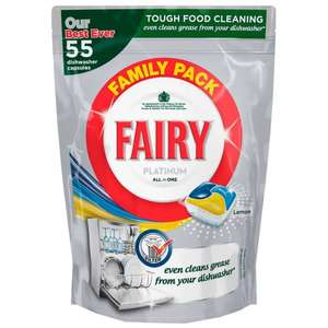 Fairy Platinum Dishwasher Tablets 55 pack £2 (3.6p each) at Asda (instore)