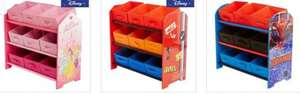 Kids character storage tidy boxes including Disney Princess, Cars, Spiderman, Winnie the Pooh & Minnie Mouse now £19 @ Dunelm
