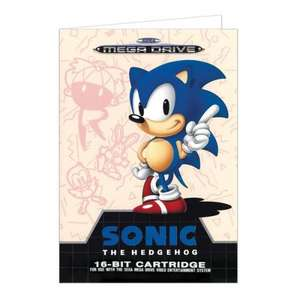 Sega Mega Drive Sonic Greetings Card 99p + £1 delivery - £1.99 at Forbidden Planet