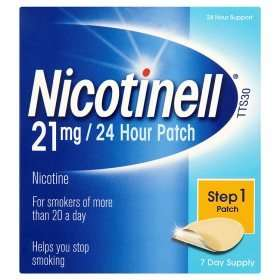 Nicotinell Step 1 21mg/24 Hour Nicotine Patch (7 pack) £4.00 @ Asda