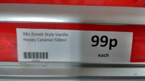 Ben & Jerry's Greek Style Vanilla Honey Caramel Ice Cream 500ml - 99p @ Heron Foods Oswestry