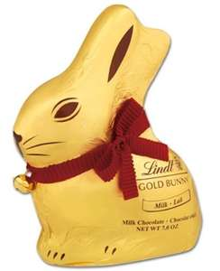 Lindt Milk and Dark Chocolate bunnies 200g half price £2 @ Sainsbury's instore, also Easter eggs half price