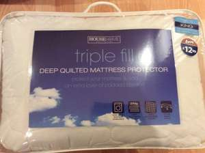 B&M instore Deep quilted mattress protector £3.49 reduced from £12.99