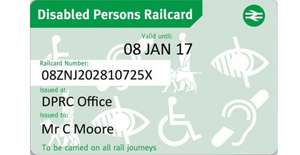 disabled railcard for just £10 in Tesco vouchers