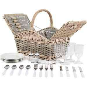 4 person picnic basket - £28 IWOOT (£21 w/cash back & discount code!!!) (similar versions £50+)