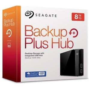 Seagate Backup Plus Hub 8 TB USB 3.0 Desktop, 3.5 inch External Hard Drive for PC and Mac with Integrated 2 Port USB Hub £204.27 del @ Amazon