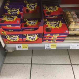 12 (£1.97) & 5 (£0.87) creme eggs reduced to silly prices at Tesco instore