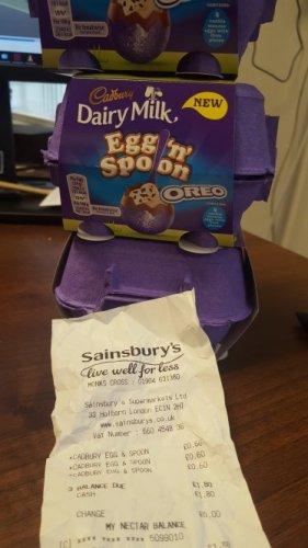 dairy milk egg n spoon - 60p instore @ Sainsbury's