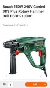 Bosch Rotary hammer drill was £93 now £58 @ B & Q £48 with code