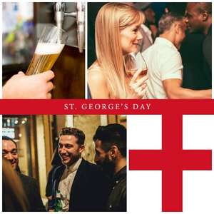 Free glass of wine or pint of Coors if you're called George or Georgina at Banyan Manchester Corn Exchange on Sunday 23rd April