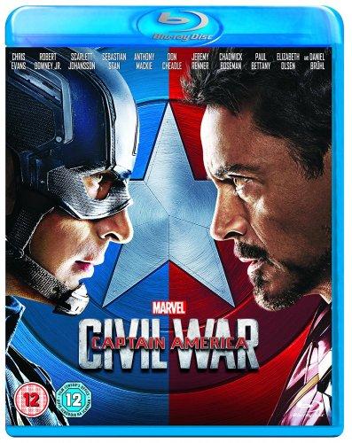 Captain America: Civil War - DVD £7.99, Blu-Ray £9.99 (non prime + £1.99 del) @ Amazon