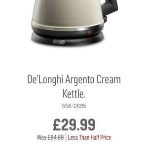 ARGOS DE'LONGHI KETTLE LESS THAN HALF PRICE (Free C&C)