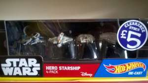 Star Wars Hotwheels Die Cast Starship Collections instore at Smyths for £5