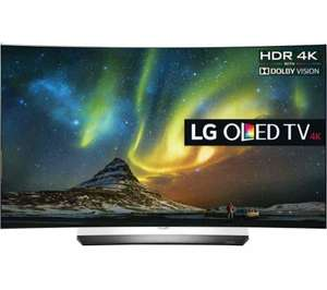 Currys LG OLED55C6V Smart 4K Curved OLED TV and OLED55B6V £1499 with code