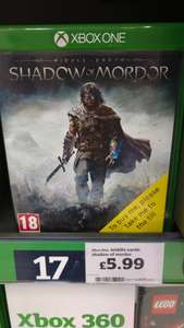 Shadow of Mordor Xbox One - £5.99 instore @ Sainsbury's (Bishop Auckland - Possibly National)
