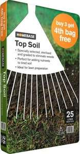 Topsoil - £5.76/100 litres in-store in Homebase