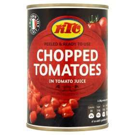 KTC Various Canned Tins Chopped/Plum Tomatoes, Beans, Chickpeas, Chana. 4 for £1 @ Asda Online and In store