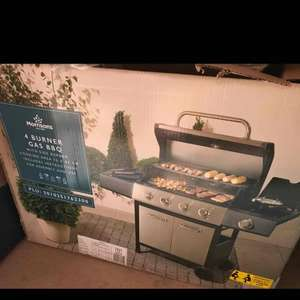 Morrison's Gas 4 burner (plus side burner) BBQ £137 instore (Leamington Spa)